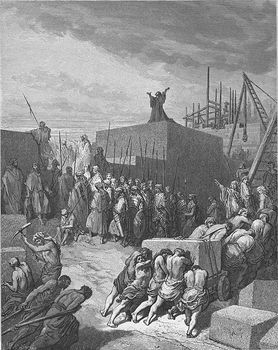 The Rebuilding of the Temple by Dore