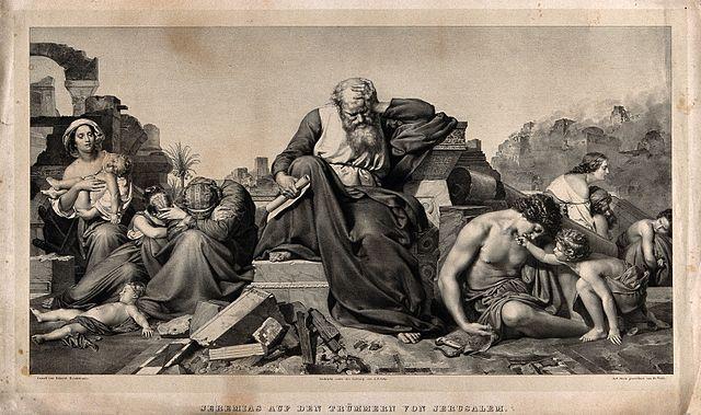 Jeremiah amidst the rubble
