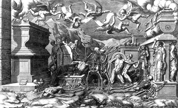 vision of Ezekiel by Girogio Ghisi
