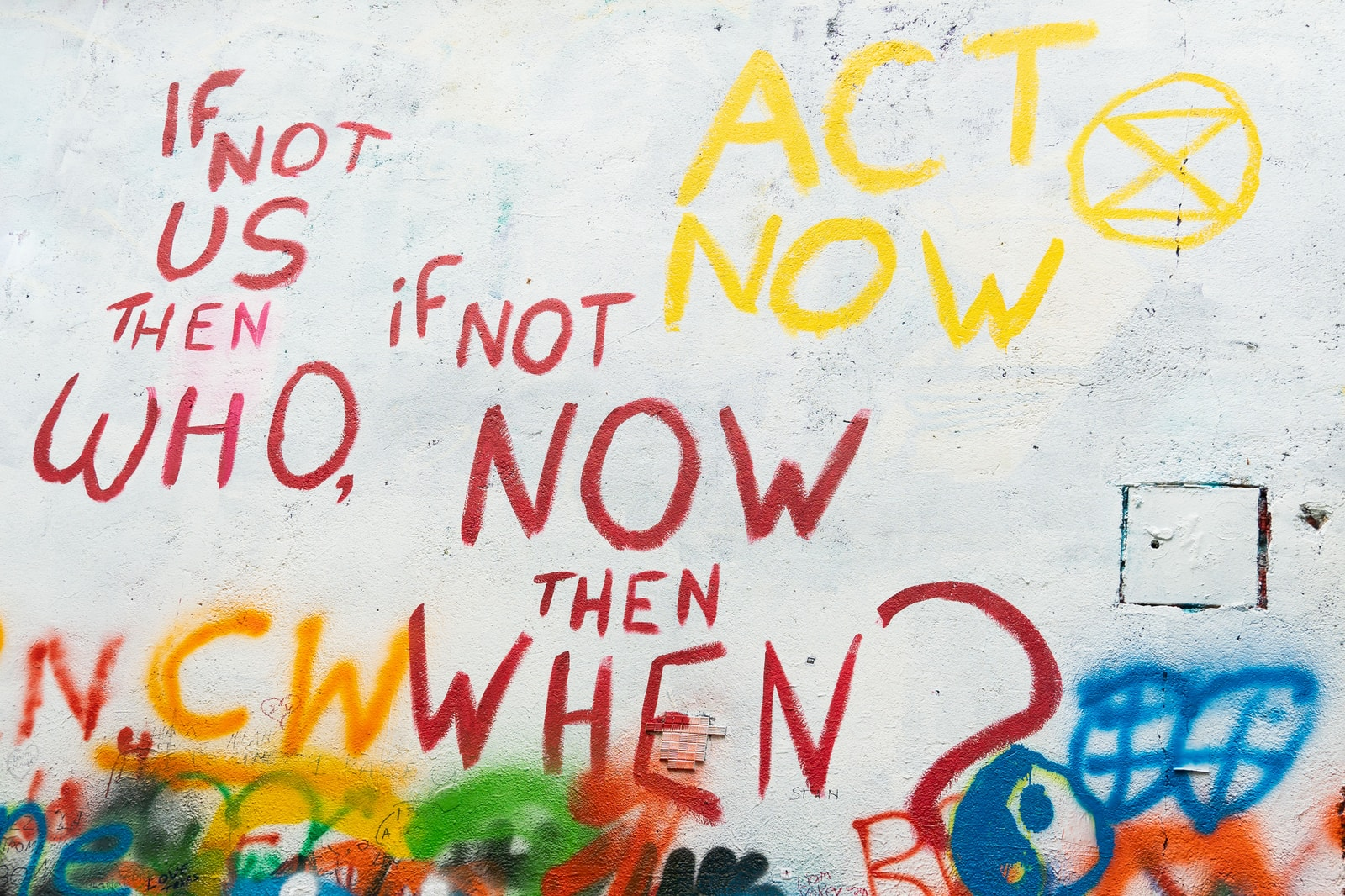painting if not us then who, if not now then when