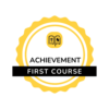 First Course Achievement badge